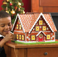 "This Christmas house Advent calendar (well, that's what gingerbread is, isn't it?) is fantastic because it's an 11"" square house, not just a 3D Advent calendar. Beautifully decorated, with all the ginerbread house trimmings!"
