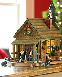 Our top selling Advent calendar in 2010, this is a small replica of a cabin set in the woods.  Featuring 24 drawers that each hold a backwoods animal, this Advent calendar is a wonderful way to count down the days to Christmas.