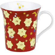 Simple, and very clever, this Advent calendar is a mug!  Bright red with pale yellow stars to be scratched off each day as you drink your favorite drink.