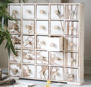 Wood Box Advent Calendar Wooden Silhouette